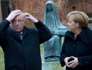 Merkel Junker before the EU Summit
